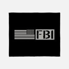 FBI: FBI (Black Flag) Throw Blanket