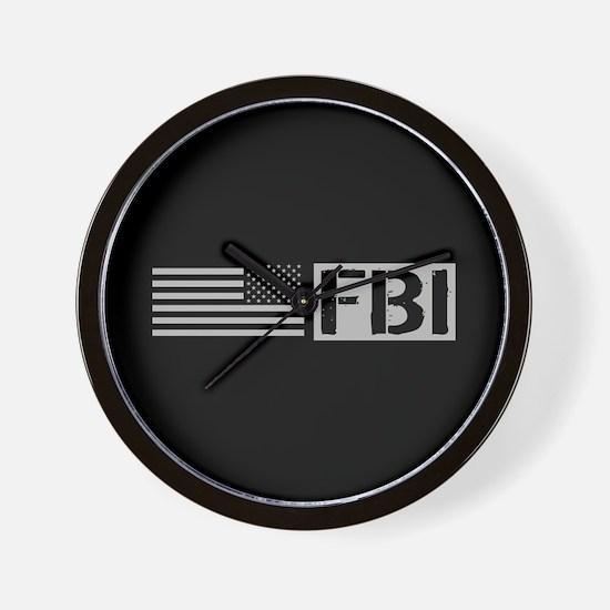 FBI: FBI (Black Flag) Wall Clock