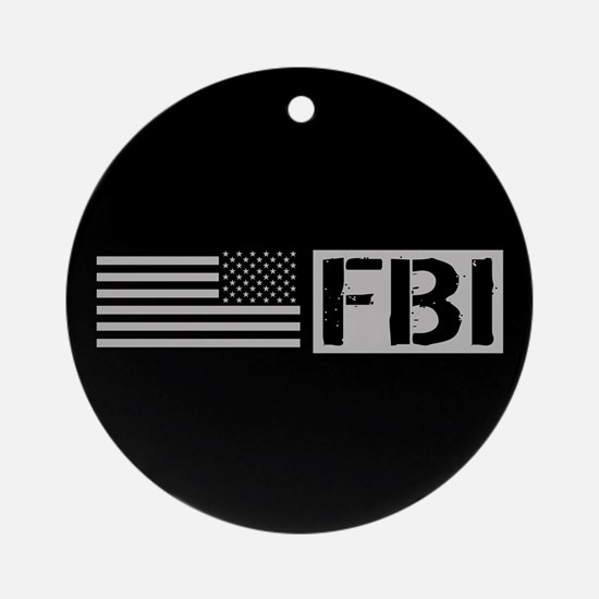 FBI: FBI (Black Flag) Round Ornament