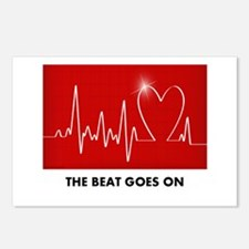 The Beat Goes On - Funny Post-Heart Surgery Postca