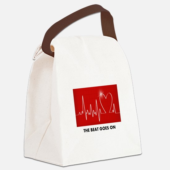 The Beat Goes On - Funny Post-Heart Surgery Canvas