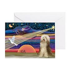 Xmas Star & Bearded C Greeting Card
