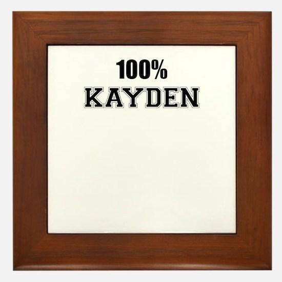 100% KAYDEN Framed Tile