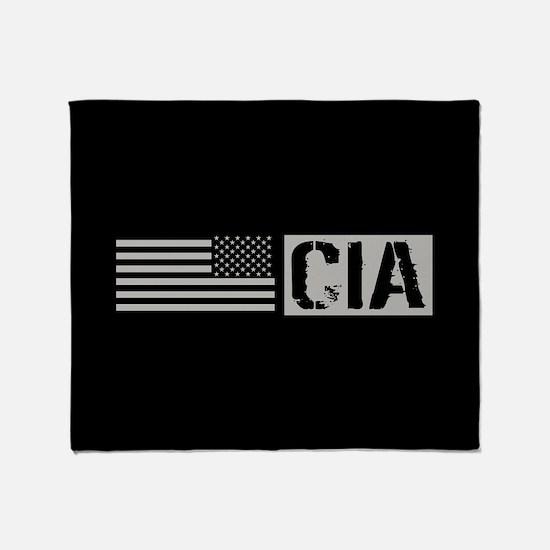 CIA: CIA (Black Flag) Throw Blanket