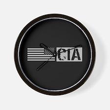 CIA: CIA (Black Flag) Wall Clock