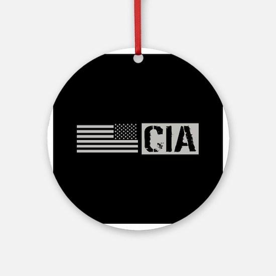 CIA: CIA (Black Flag) Round Ornament
