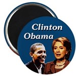 Clinton Obama Campaign Magnet
