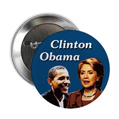 Clinton Obama Campaign Activist Button