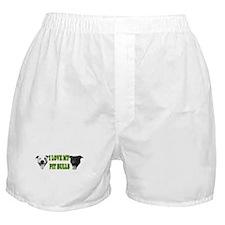 I Love My PBs (green) Boxer Shorts