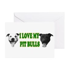 I Love My PBs (green) Greeting Cards (Pk of 10