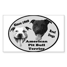 Real Dogs Rectangle Decal