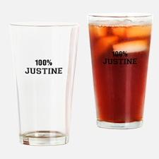 100% JUSTINE Drinking Glass