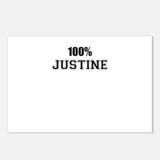 100% JUSTINE Postcards (Package of 8)