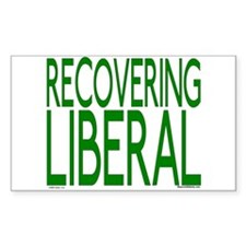 Recovering Liberal Rectangle Decal