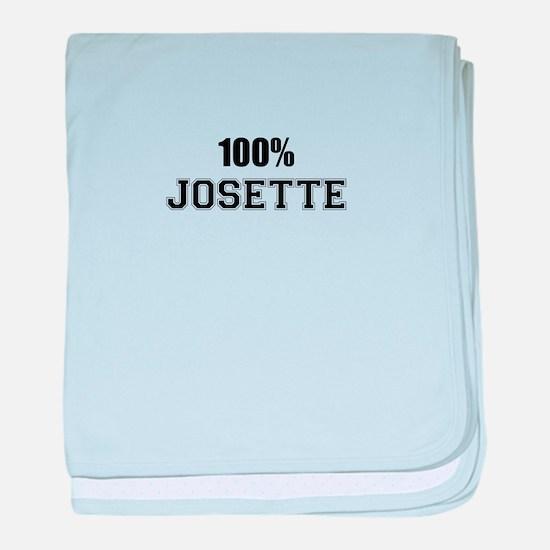 100% JOSETTE baby blanket