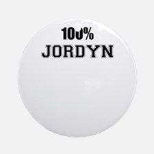 100% JORDYN Round Ornament
