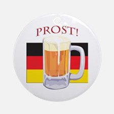 German Beer Prost Ornament (Round)