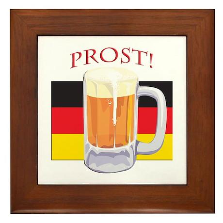 German Beer Prost Framed Tile