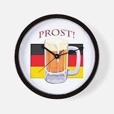 German Beer Prost Wall Clock