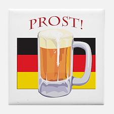 German Beer Prost Tile Coaster