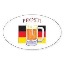 German Beer Prost Oval Decal