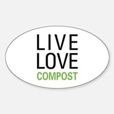 Live Love Compost Sticker (Oval)