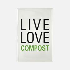 Live Love Compost Rectangle Magnet