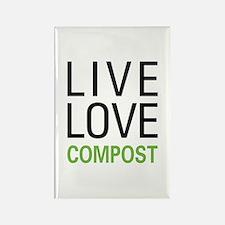 Live Love Compost Rectangle Magnet (10 pack)