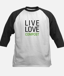 Live Love Compost Kids Baseball Jersey