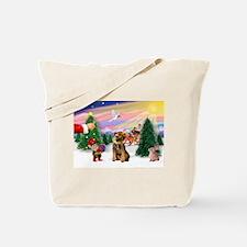 Santa's Treat /Border T Tote Bag