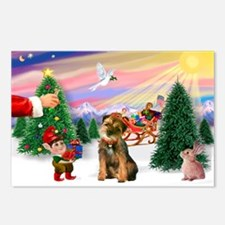 Santa's Treat /Border T Postcards (Package of 8)