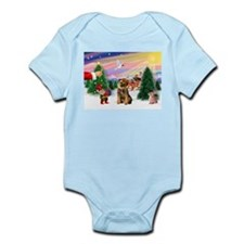 Santa's Treat /Border T Infant Bodysuit