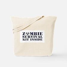 Zombie Survival Kit Inside Tote Bag