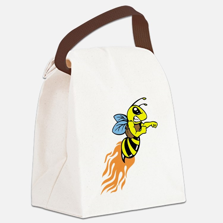 Bee Mascot Canvas Lunch Bag