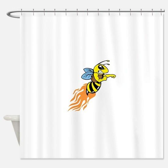 Bee Mascot Shower Curtain