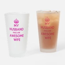 Unique Awesome husband Drinking Glass