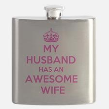 Unique I love my husband Flask