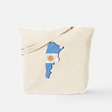 Argentina Flag Map Tote Bag