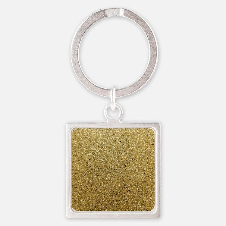 Cute Glitter Square Keychain