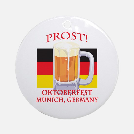 Munich Germany Oktoberfest Ornament (Round)