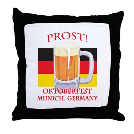 Munich Germany Oktoberfest Throw Pillow
