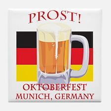 Munich Germany Oktoberfest Tile Coaster