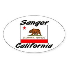 Sanger California Oval Decal
