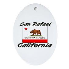 San Rafael California Oval Ornament