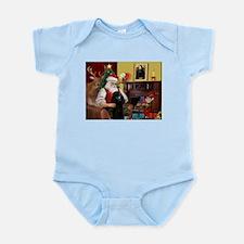 Santa's Poodle (ST-B2) Infant Bodysuit