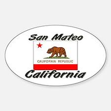 San Mateo California Oval Decal