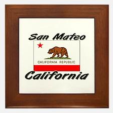 San Mateo California Framed Tile