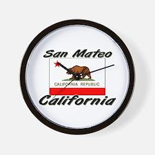 San Mateo California Wall Clock
