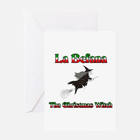 La Befana The Christmas Witch Greeting Card