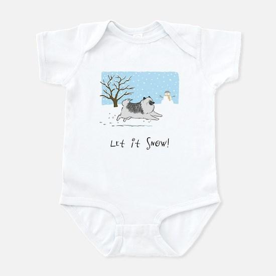 """Keesie """"Let It Snow"""" Infant Bodysuit"""